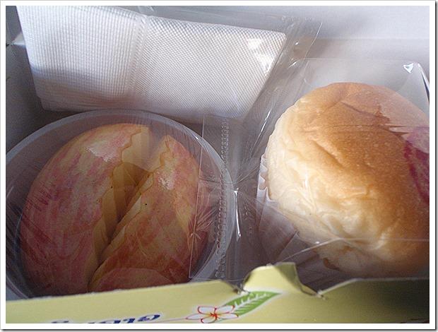 ラオス航空の国内線の軽食